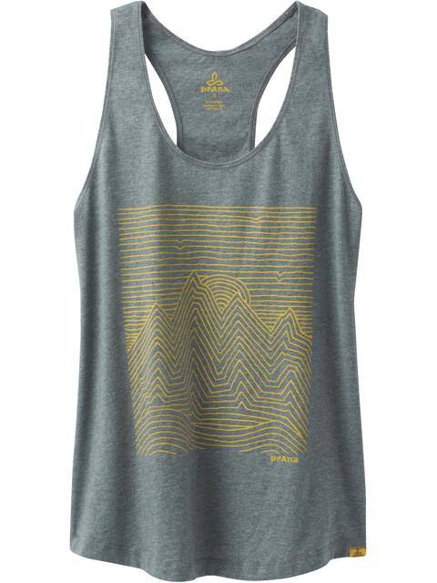 Prana Graphic Mouwloos Shirt Dames grijs